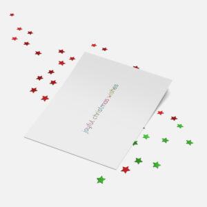 Designly kerstkaart (folie) - Joyful Christmas Wishes