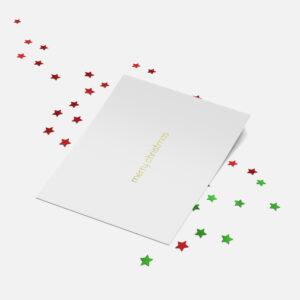 Designly kerstkaart (folie) - Merry Christmas