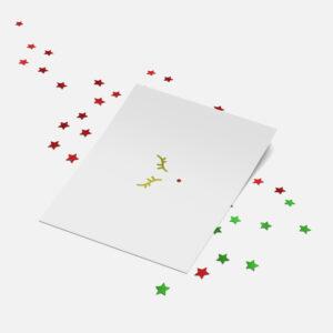 Designly kerstkaart (folie) - Rudolph